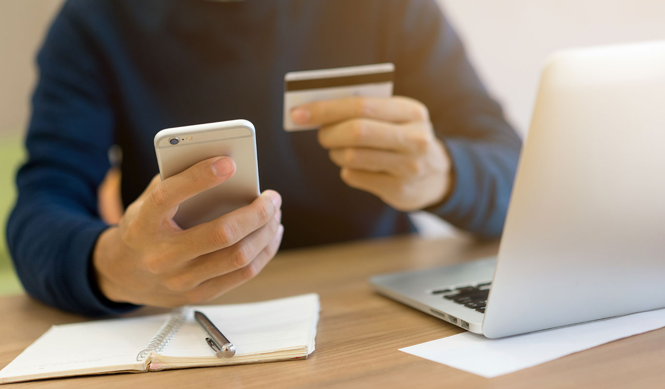 using mobile phone device for pay online